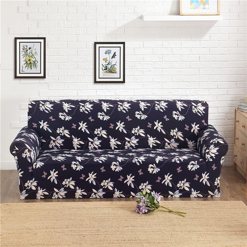 Цветочный с геометрическим принтом спандекс стрейч чехлов Чехлы для диванов съемный эластичный все включено диване чехол для Гостиная