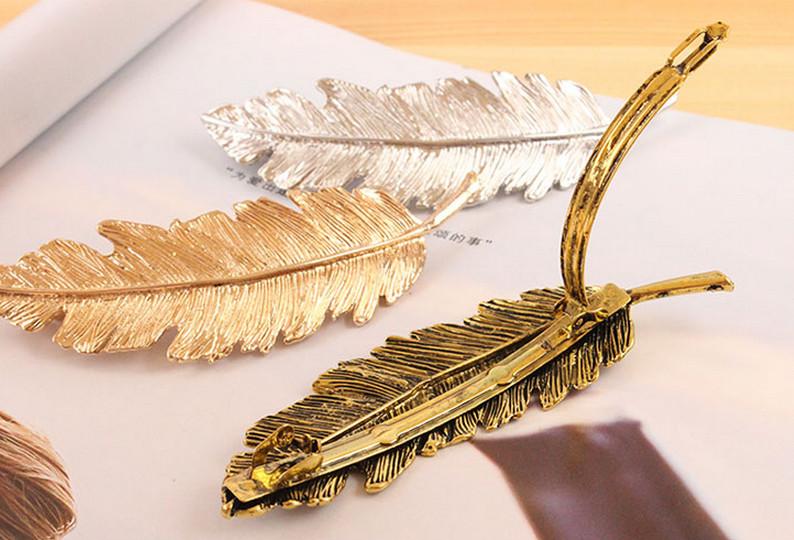 HTB1lH4cLpXXXXc6XVXXq6xXFXXXY Stylish Feather Hair Clip Statement Head Jewelry For Women in 3 Colors