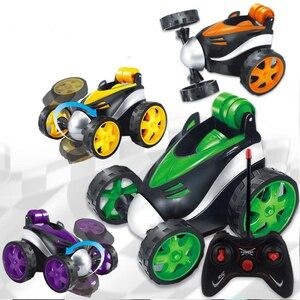 Image 2 - Kaskaderów taniec RC samochodów upadki elektryczne sterowane Mini samochód śmieszne Rolling obrotowe pojazd na kołach zabawki dla prezenty urodzinowe dla dzieci