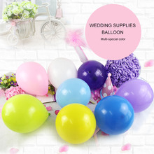 Diwoni 100pcs 10 Inches Matte Balloon Latex Circular Multicolor Wedding Festival Decoration Matt Frosted
