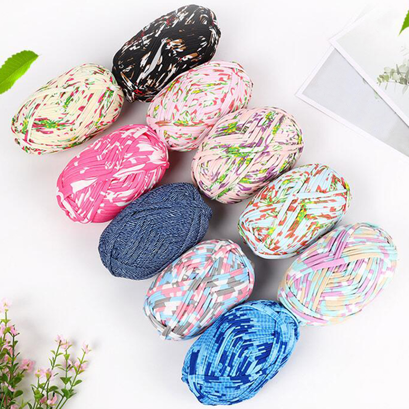 100g Woolen Yarn Diy Woven Thread Cotton Cloth Wool Yarn Hand Knitting Yarn Crocheted Blanket Diy Cushion Cloth Strip Yarn