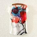 Горячая Роуз Принцесса 2016 лето новый Европейский и Американский короткими рукавами футболки печать небольшой битой свободные дамы прилив Т оптовая