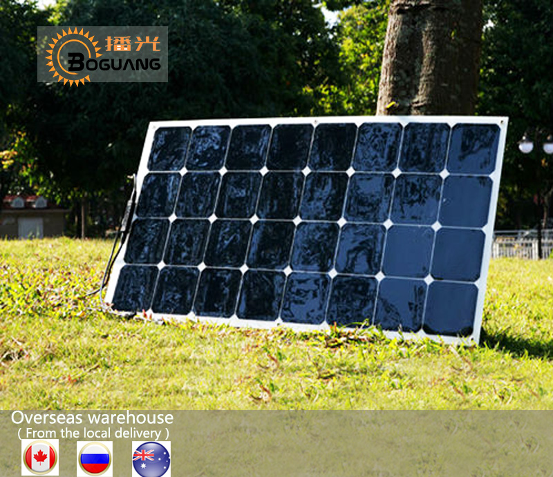 Solar panel 100W flexible solar panels efficient cell price module kit Boat Roof RV light camper Car 12V Battery Power Charger boguang 40w flexible solar panel mc4 connector high efficiency solar cell solar module for rv boat yacht motor home car