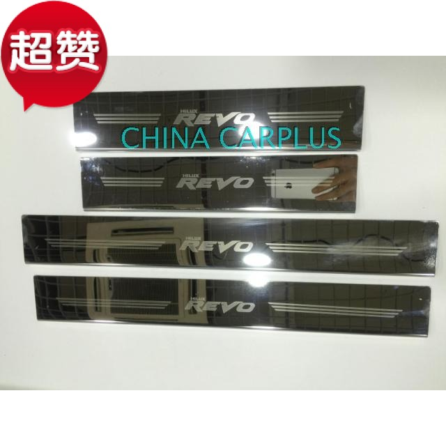 free shipping car accessories Hilux revo high quality stainless steel door sill strip welcome pedal refires decoration