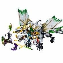 1100 шт. ниндзя ультра Дракон Совместимость LegoING Ninjagoes Дракон строительные блоки кирпичи игрушки для детей подарок на день рождения