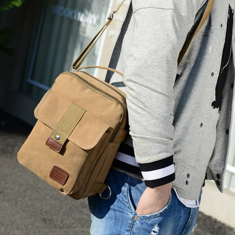 Cloth shake 2018 New Men Canvas Small Sling Chest Pack Handbag Vintage Shoulder Bag Function Small Men Messenger Crossbody Bags augur 2018 men chest bag pack functional canvas messenger bags small chest sling bag for male travel vintage crossbody bag