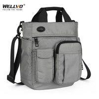 Мужская сумка на плечо с отверстием для наушников, непромокаемая нейлоновая дорожная сумка, большая емкость, сумки для хранения XA11C