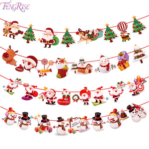 FENGRISE Christmas Banner Merry Christmas Decoration for Home 2020 Noel Navidad Cristmas Gift Xmas Tree Gift Happy New Year 2021