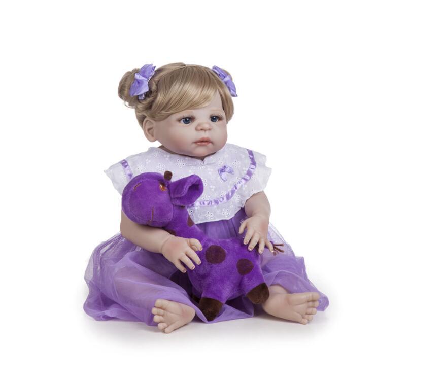 Poupée réaliste Reborn 20 pouces réaliste fait à la main en silicone souple reborn bébé poupées cadeaux de surprise de noël jouet lol