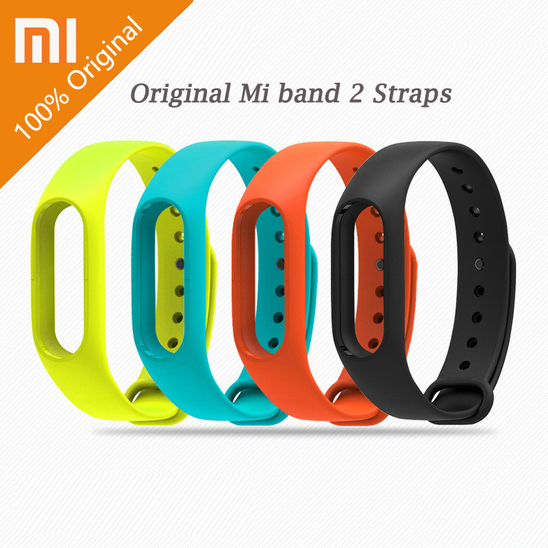 100% Original Xiaomi Mi Band Strap Colorful Mi Band 2 3 4 Bracelet Accessories Replaceable Smart Band Belt Silicone Bracelet