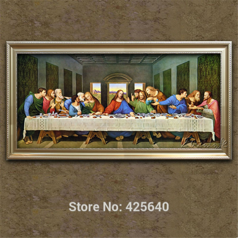 home decor jesus christ painting the last supper of jesus painting print on canvas ready to