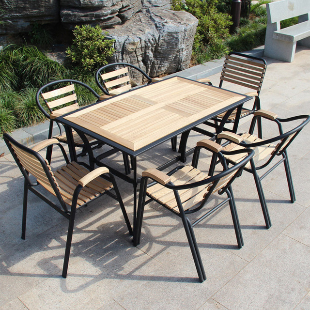 Balcony patio outdoor furniture leisure furniture wood chairs round ...