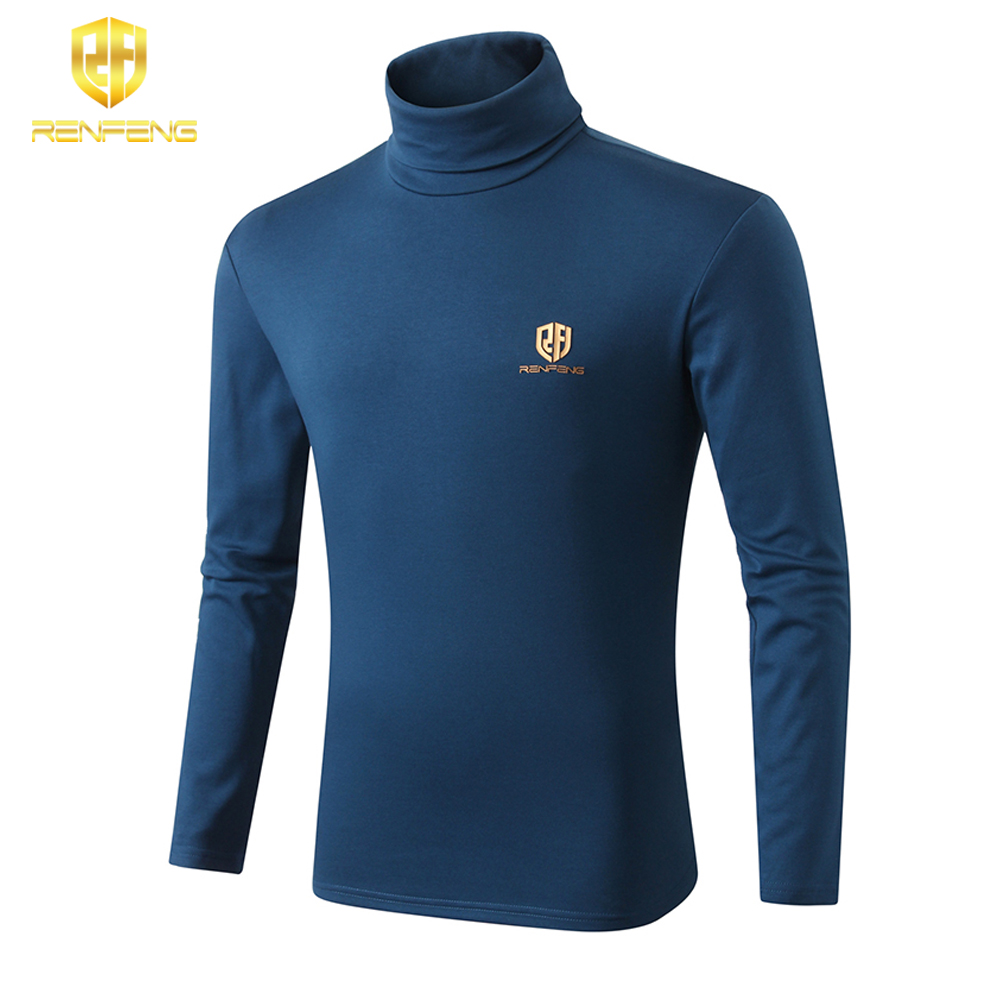 winter underwear for mens undershirts 95% cotton long sleeve brand t shirts turtleneck Warm shirt renfeng logo thermo shirt mens (6)