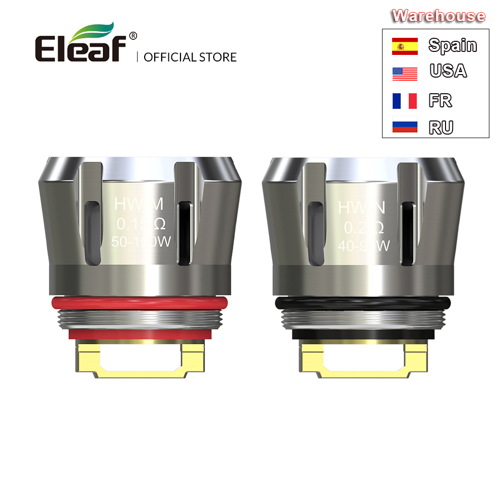 [RU/FR] bobine d'origine Eleaf HW 0.15ohm HW-M/0.2ohm bobine HW-N pour Ello Duro/Ello Vate/iStick Pico S/iJust 3 bobine E Cigarette