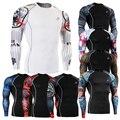 2016 MMA Crossfit Pele Justas Compressão Camisa Impressões 3d Tshirt Longo da Luva dos homens Gays Roupas Térmicas Presentes Da Família CSP 4XL