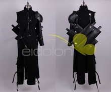 Final Fantasy FF7 Cloud Strife Cosplay Costume Outfit + PU Leather Pauldrons Halloween Adult Costumes for Women/Men Customize