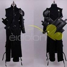 Final Fantasy FF7 Cloud Strife, карнавальный костюм, наряд из искусственной кожи, Pauldrons, костюмы для взрослых на Хэллоуин для женщин/мужчин, на заказ