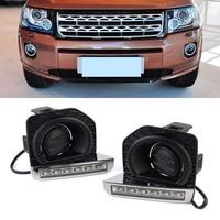 Auto Car LED Light DRL Daytime Running Lights Driving Lamps For Land Rover Freelander 2 12