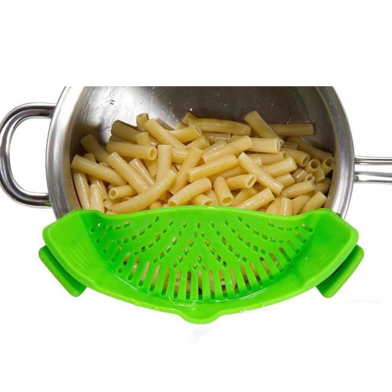 Silicone Pot Filter Kitchen Clip Pot Filter Drain Excess Liquid Drain Pasta Vegetable Cookware Kitchen Tools