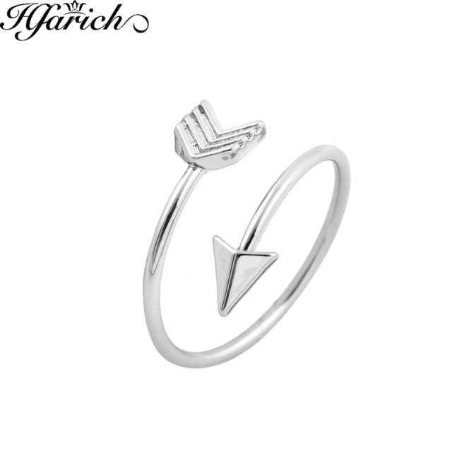 Hfarich 2018 Classical Silver Color Arrow Ring Fashion Ring for women Adjustable