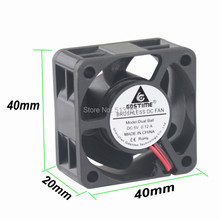Gdstime 5V 2 Pin 40mm Computer Cooler Ball Bearing 4cm 4020 40x40x20mm Small Cooling Fan PC цена и фото