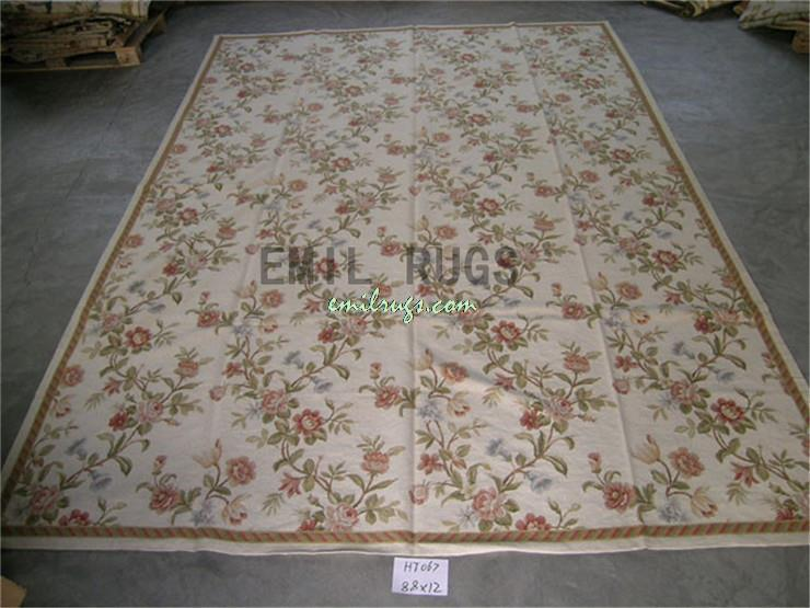 100 Wolle Handgenht Nadel Teppiche Needleopint 274 CM X 366 9 12 Englisch Garten Gc3nee81