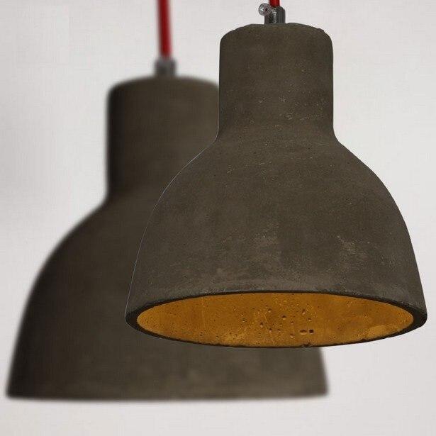 Industrial Vintage Loft Cement Droplight Retro LED Pendant Light Fixtures For Dining Room Hanging Lamp Home Decor Lighting