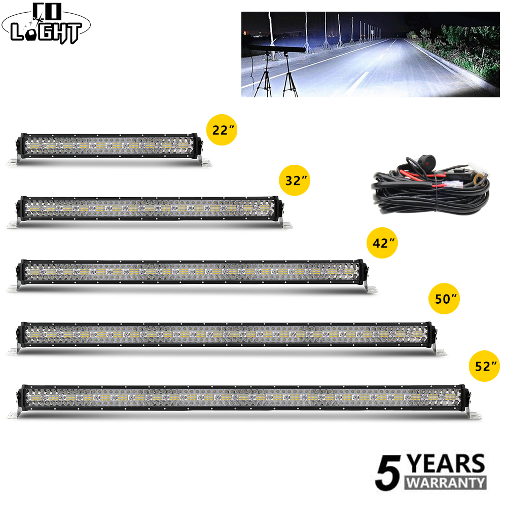 CO LIGHT 12D 42inch Offroad Led Light Bar 3 Row 780W Led 4x4 Offroad Work Light