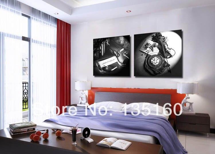 Online Get Cheap Instrument Artwork  Aliexpress com   Alibaba Group Violin musical instrument still life canvas artwork bedroom ornament  Concert Hall wall decora sale price dropping. Artwork For Bedroom. Home Design Ideas