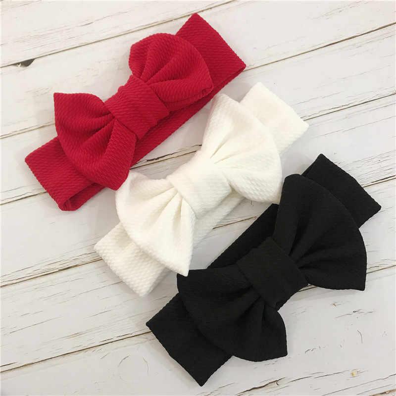 เด็กผู้หญิง Headbands เด็ก Turban Headwraps Headband ทารกแรกเกิด Bow Bandeau Bebe ผู้หญิงสีขาว Hairband เด็กวัยหัดเดินผ้า Knot Headwear