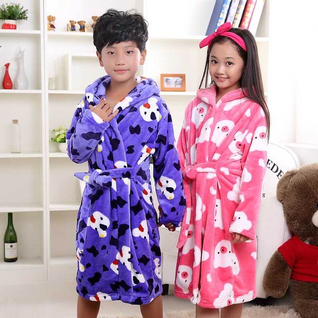 863bb2a8dfa4 Kigurumi kids Winter Warm Boys and Girls Hooded Flannel Fleece ...