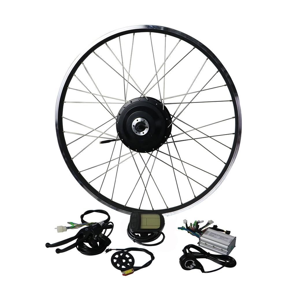 EUNORAU 36V500W Shengyi DGW22C rear cassette Electric Bike Conversion Kit Brushless Hub Motors 20 24 26