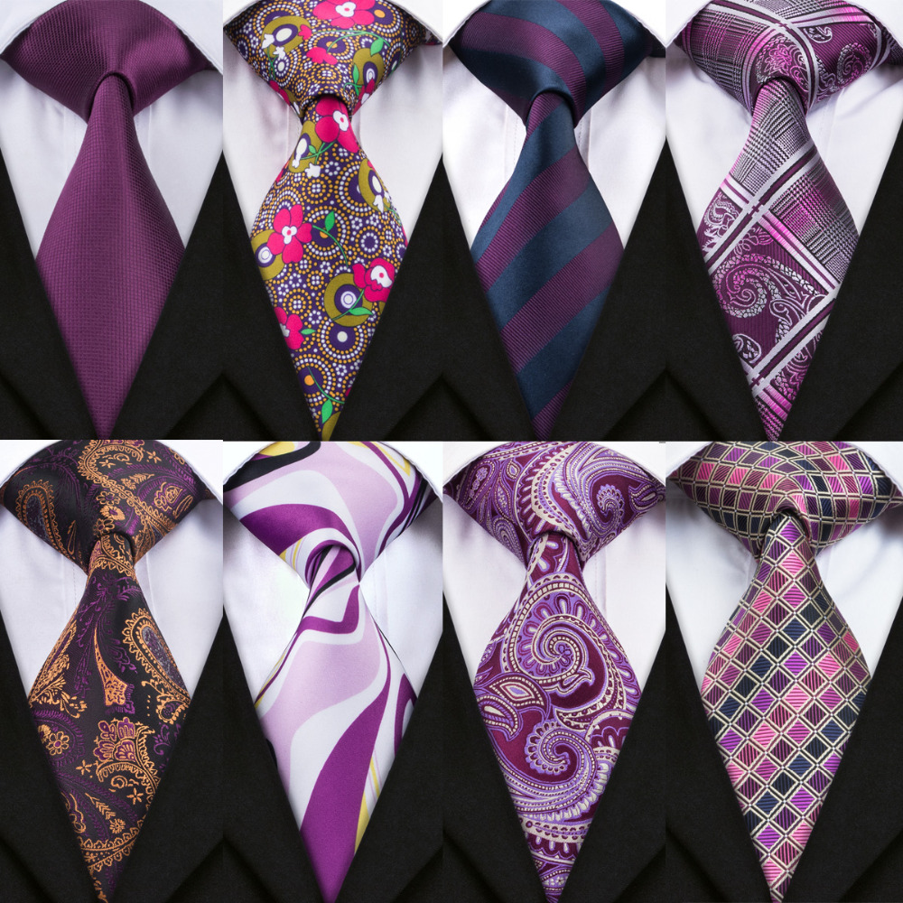 2018 Hot Sale 8.5cm Neck Ties For Men Purple Color Ties Wedding Accessories Slim Fashionable Neckties Man Party Business Formal