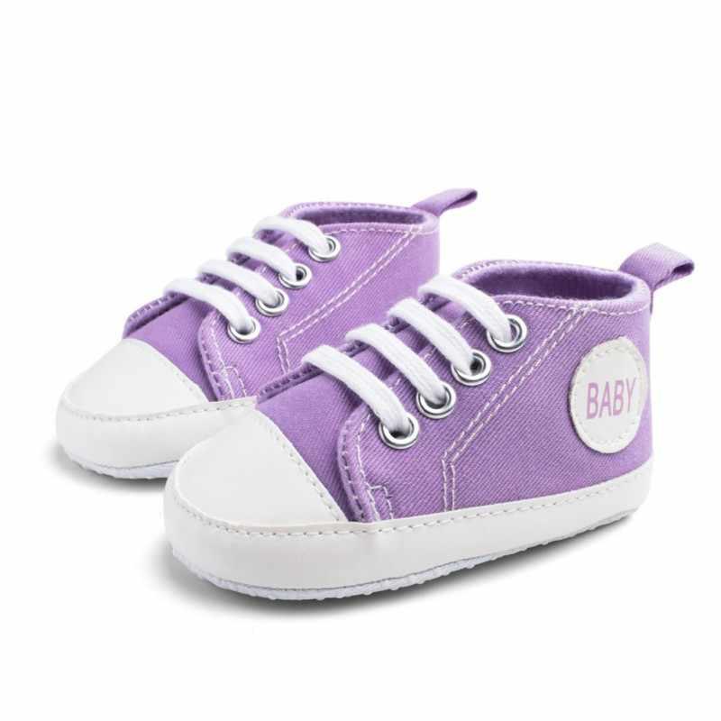 Vải Bố Mới Cho Bé Giày Sneaker Thể Thao Cho Bé Gái Bé Trai Giày Sơ Sinh Cho Bé Sơ Sinh Tập Đi Đế Mềm Chống trơn trượt đầu tiên Xe Tập Đi