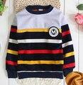 (1 unid/lote) de algodón 2016 Suéter Caliente Del invierno (90-150 cm) 1-9year de edad bebé deporte suéteres
