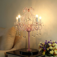 Classic Table Lamp for Bed Room Crystal Table Lamp for Girls Room Beautiful Tedroom Night Table Lamps for Wedding Part Decorate