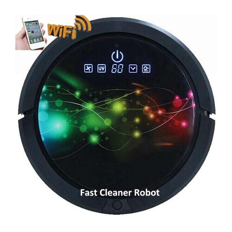 FBA Armazém, Mais Rápido Sem IMPOSTO Para Grande desconto Robot Vacuum Cleaner, Smartphone WIFI App, tanque de água, 3350 mah de lítio