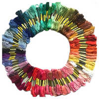 Best 100 skeins coloured embroidery thread cotton cross needle craft sewing floss kit