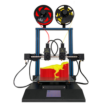 TL D3 プロ Impresora 3D 300*300*350 ミリメートル 3D プリンタ 2 色デュアルノズルリニアレールミラー 3D 印刷 4.3 インチのタッチスクリーン