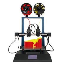 TL D3 Pro Impresora 3D 300*300*350mm 3D Printer Two Color Dual Nozzles Linear Rail  Mirror 3D Printing 4.3 Inch Touch Screen