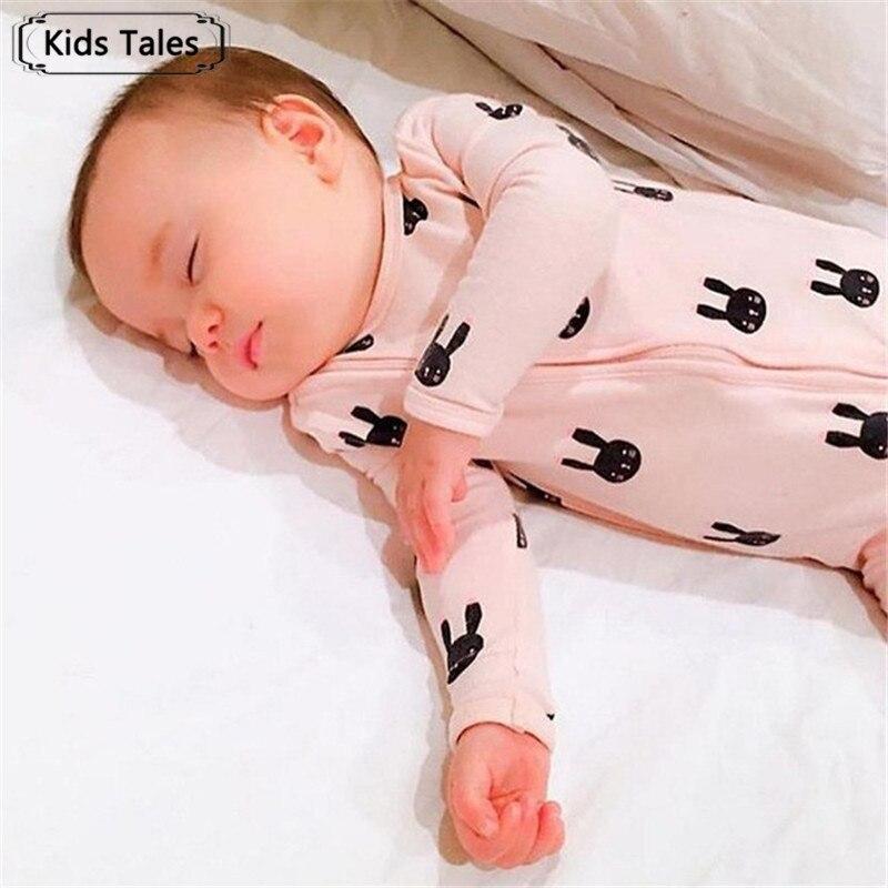 Mutter & Kinder Babykleidung Jungen Ordentlich Neugeborenes Baby Kleidung Säuglingsspielanzug Langarm Kaninchen Drucken Nette Baby Mädchen Strampler Overall Pyjamas Baby Kleidung Sr126