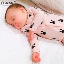 Newborn Baby Boy Clothes Infant Romper Long Sleeve Rabbit Pr