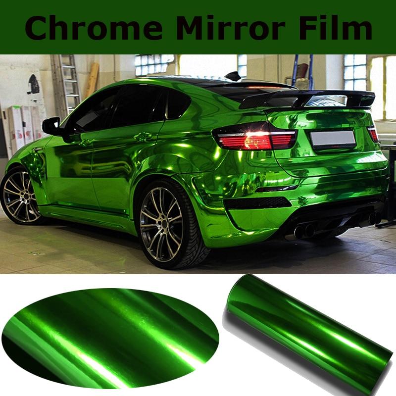 premium stretchable chrome mirror green vinyl wrap with. Black Bedroom Furniture Sets. Home Design Ideas