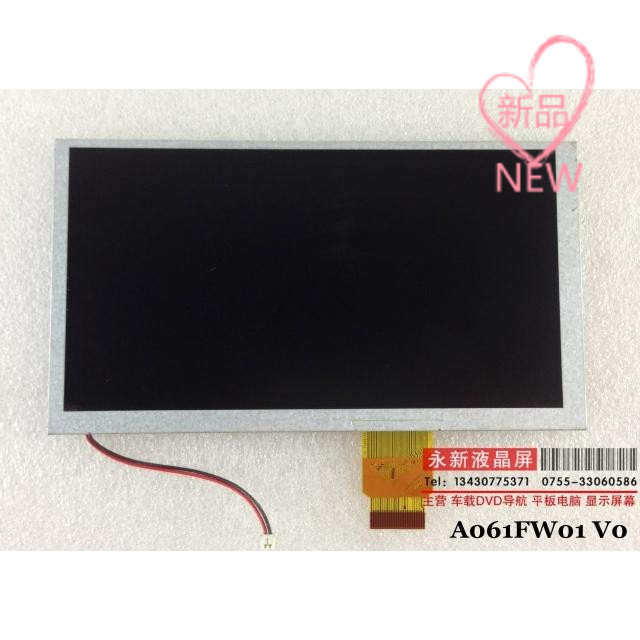 Original 6.1inch LCD screen a061fw01 v0 for car dvd free shipping free shipping tube a claa080mb0gcw car 8 lcd screen