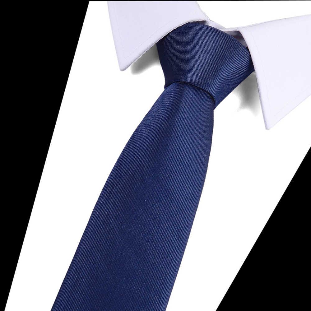 웨딩 비즈니스를위한 럭셔리 남성 넥타이 캐주얼 슬림 넥타이 클래식 폴리 에스터 짠 파티 넥타이 패션 격자 무늬 점 남성 넥타이