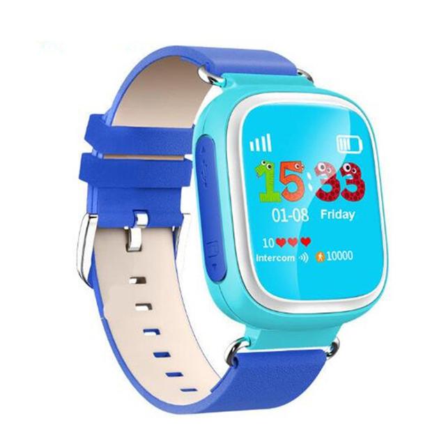 Venda quente smart watch relógio bebê devicetracker q80 com tela de toque gps sos chamada local para criança seguro anti-lost monitor de