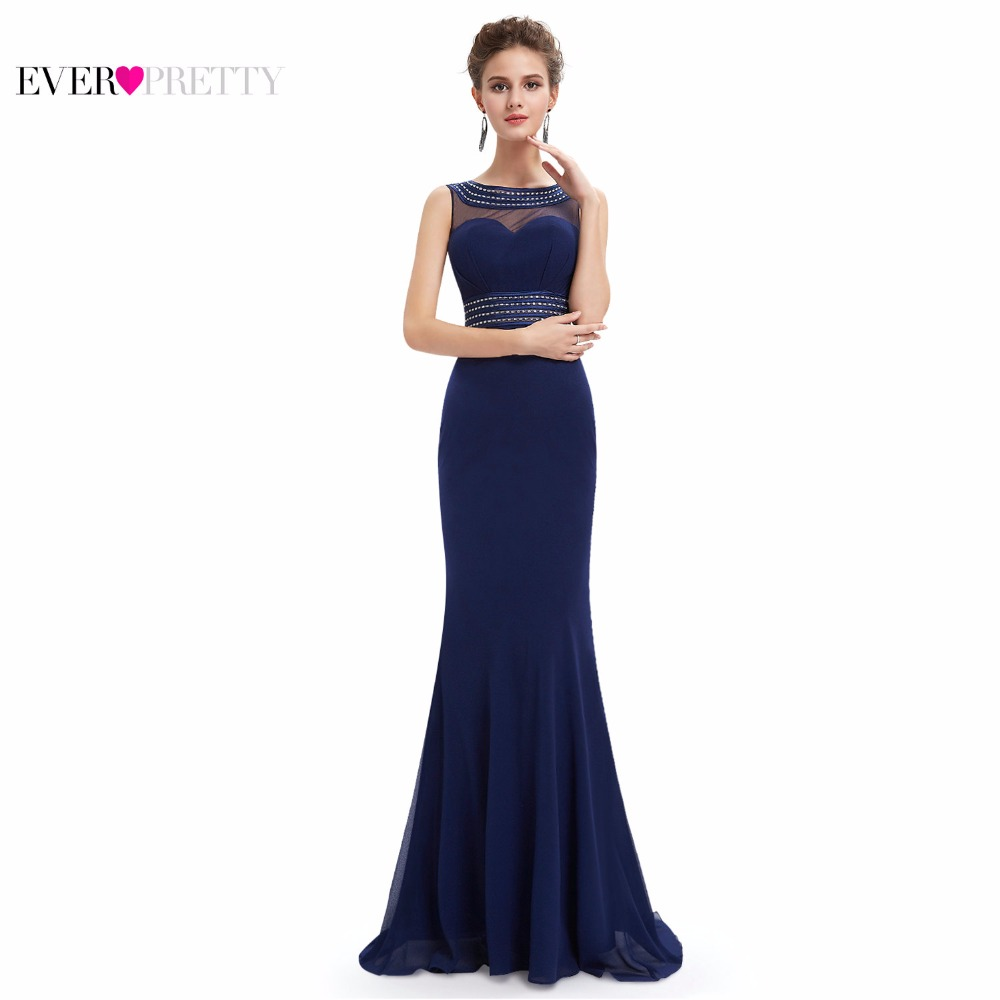 2016 Mermaid Women Gowns Evening Dresses Ever Pretty HE08734 Mermaid Evening Dress See Through Top Evening