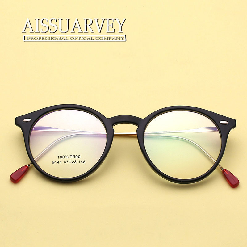 ecb937d267938 Women Eyeglasses Frame Round Metal Vintage Optical Eye Glasses Frame  Prescription Pink Clear Eyewear Fashion Brand Designer New-in Eyewear  Frames from ...