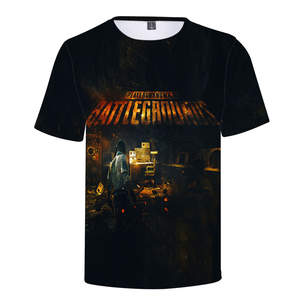 Jedi survival PUBG 3D short-sleeved T-shirt fashion T-shirt 2018 popular online games 3D printing short-sleeved mens clothing