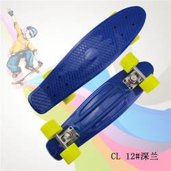 """Пастель простой цвет 22 """"стиль скейтборд ребенок Cruiser мини Лонгборд пластик рыбы скейт длинная доска с зелеными колёса"""